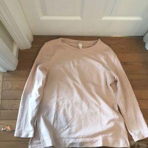 Light pink blush long sleeve